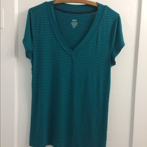 Green and navy Mossimo top